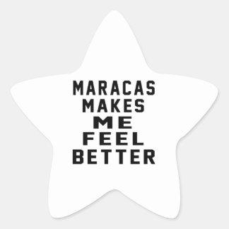 Maracas Makes Me Feel Better Star Stickers