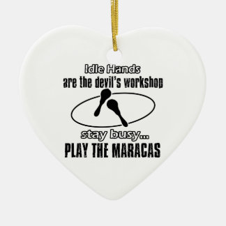 maracas music  Designs Ceramic Ornament