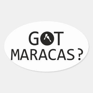 MARACAS music designs Oval Sticker