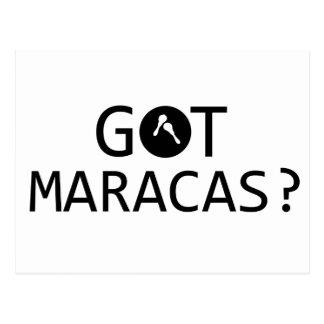 MARACAS music designs Postcard