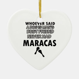 Maracas musical instrument ceramic ornament