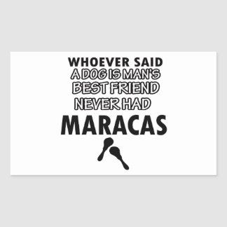 Maracas musical instrument rectangular sticker