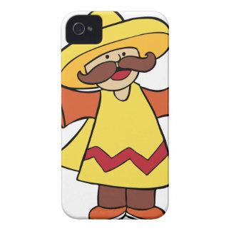 Maracas Musician Man Cartoon Character iPhone 4 Cover