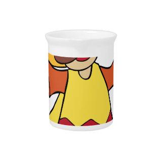 Maracas Musician Man Cartoon Character Drink Pitchers