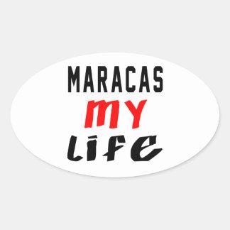Maracas my life oval stickers