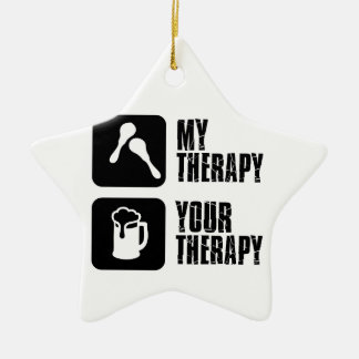 maracas  my therapy ceramic ornament