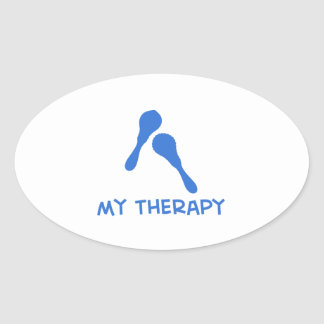 Maracas my therapy oval sticker