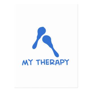Maracas my therapy postcard