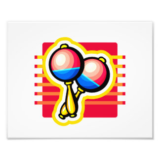 Maracas pink and blue and yellow graphic image photo art