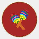 Maracas Round Sticker
