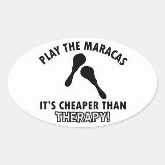 maracas therapy design oval sticker