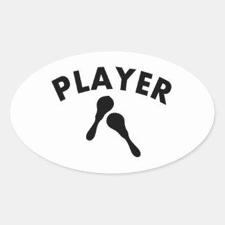 Maracas vector designs oval sticker