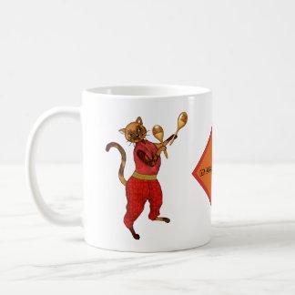 Maracas with a Cat Who's a Mover and Shaker Coffee Mug