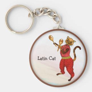 Maracas y el gato fresco llavero redondo tipo pin