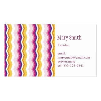 Marakesh Chevron Print Design Business Cards