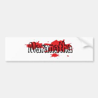 Maranatha 5 coloretes noir de los taches pegatina para auto