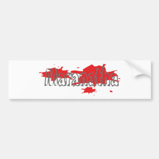 Maranatha 5 gris taches rouges bumper sticker