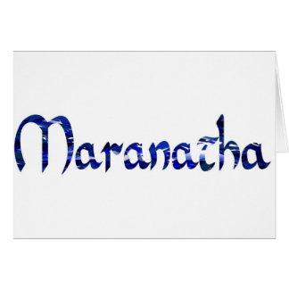 Maranatha Effet bleu Card