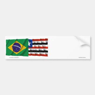 Maranhão y banderas que agitan del Brasil Pegatina Para Auto