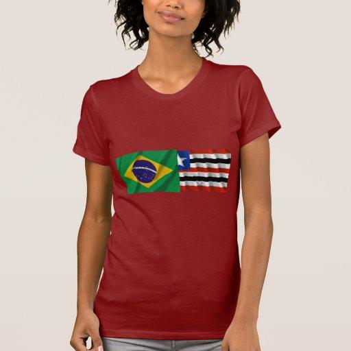 Maranhão y banderas que agitan del Brasil Camisetas
