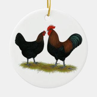 Marans Black Copper Ceramic Ornament