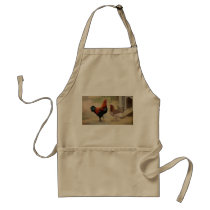 Marans Hen and Rooster Apron