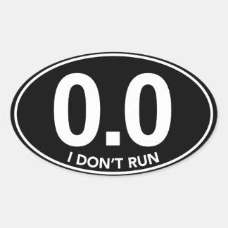 Marathon 0.0 I Don't Run Oval Sticker (Black)