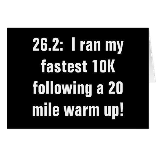 Marathon 10K love Card