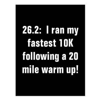 Marathon 10K love Postcard