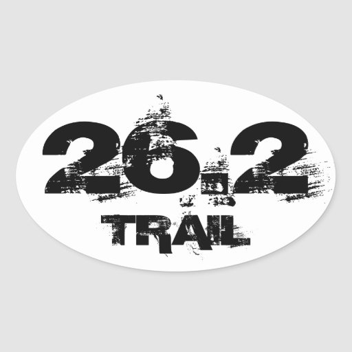 Marathon 26.2 Trail Oval Vehicle Decal Sticker