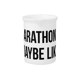 Marathon & 3 People Beverage Pitcher