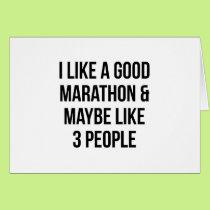 Marathon & 3 People Card