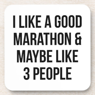 Marathon & 3 People Drink Coaster