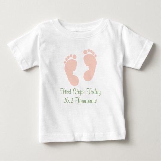 Marathon Baby Pink Footprint T-shirt