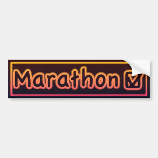 marathon check bumper sticker