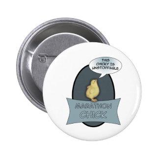 Marathon Chick Pinback Button