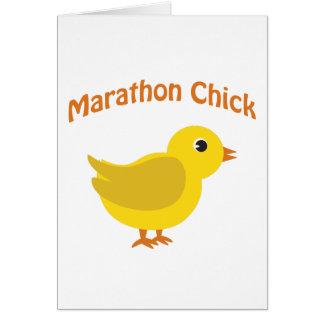 Marathon Chick Card