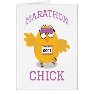 Marathon Chick Greeting Cards