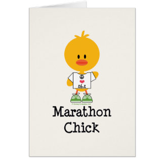 Marathon Chick Peace Love 26.2 Greeting Card