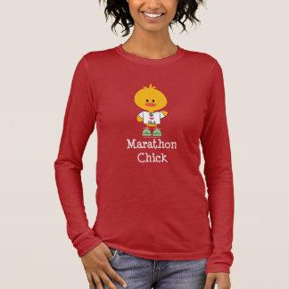 Marathon Chick Peace Love 26.2 Long Sleeve T shirt