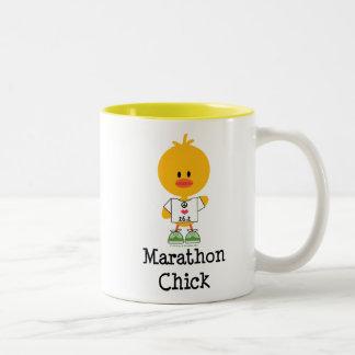 Marathon Chick Peace Love 26.2 Mug