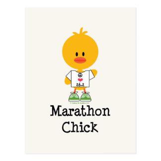 Marathon Chick Peace Love 26.2 Postcard
