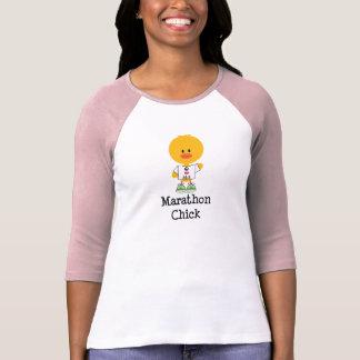 Marathon Chick Peace Love 26.2 Raglan Tee Shirt