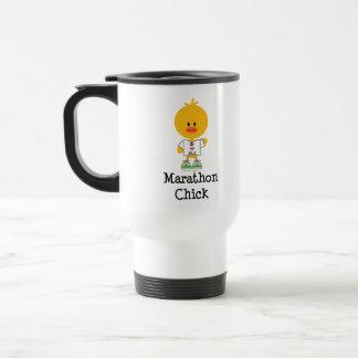 Marathon Chick Peace Love 26.2 Travel Mug