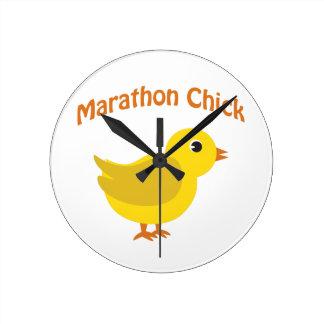 Marathon Chick Round Clock