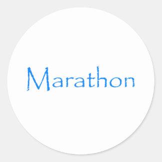 Marathon Classic Round Sticker