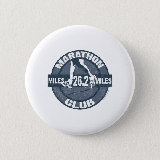 Marathon Club Pinback Button