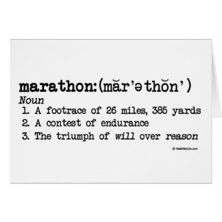 Marathon Definition Congratulations Card