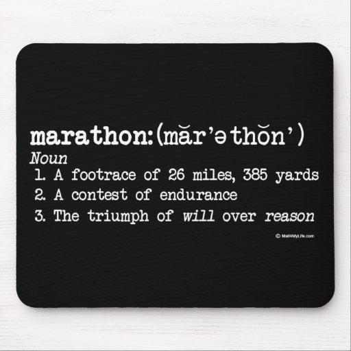 Marathon Definition Mouse Pad
