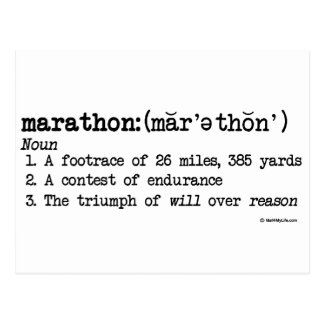 Marathon Defnition Postcards